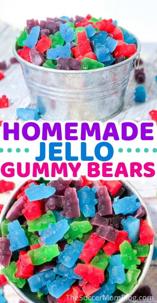 These delicious Homemade Gummy Bears are the perfect DIY candy treat! Only 3 ingredients!
