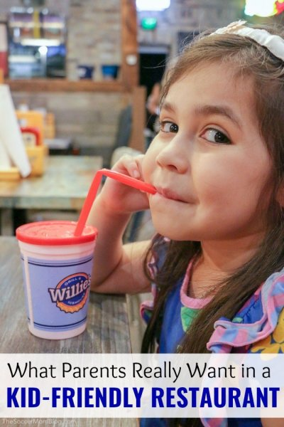 """A lot of places call themselves """"family friendly,"""" but we've got the scoop on what parentsreally look for in kid friendly restaurants!"""