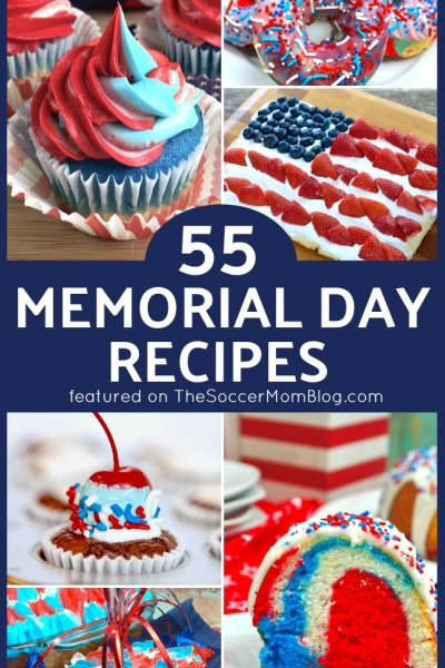 Plan the perfect party with our collection of Memorial Day recipes! Red white & blue Memorial Day desserts, easy appetizers, grilling ideas, drinks, & more!