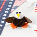 cute pom-pom eagle kids craft