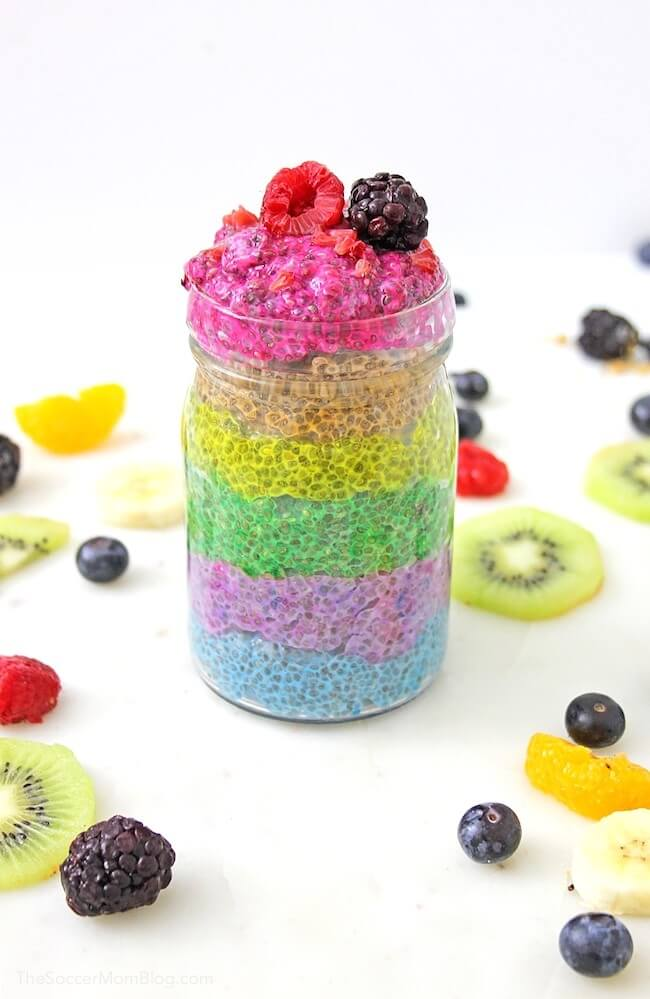 With a healthy mix of colors and flavors, this Rainbow Chia Pudding is a bright addition to any day!