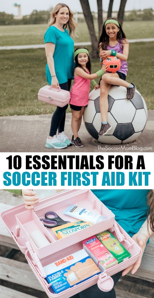 What to pack in a soccer first aid kit.