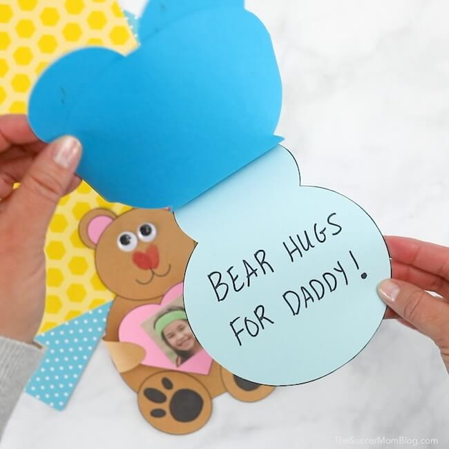 bear hugs Father's Day card