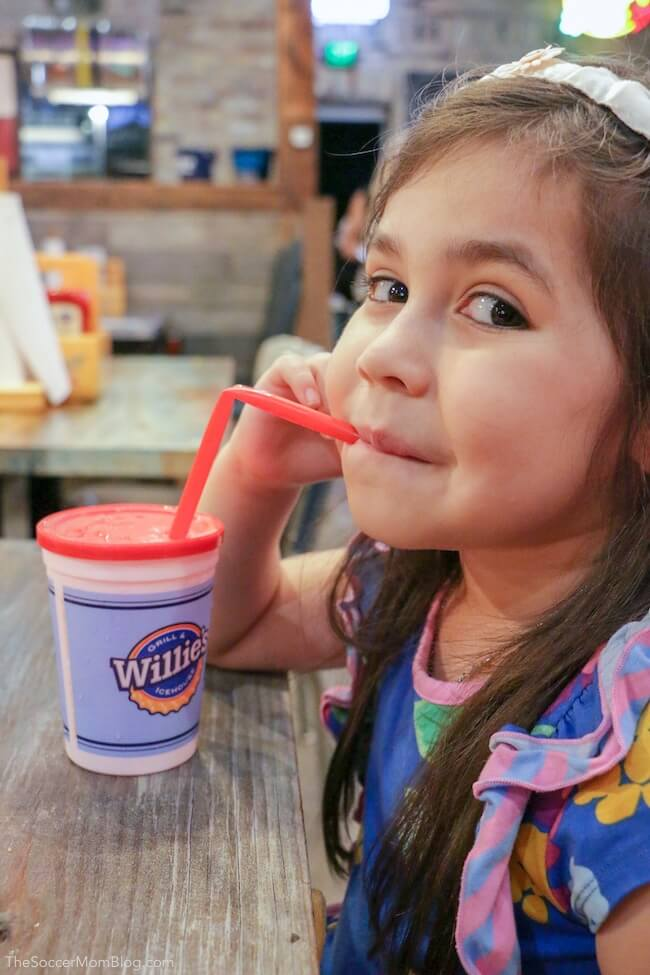 kids cups at Willies Grill and Icehouse