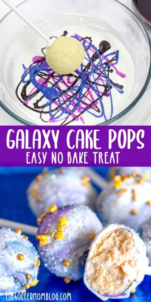 Galaxy Cake Pops - Easy No Bake Treat