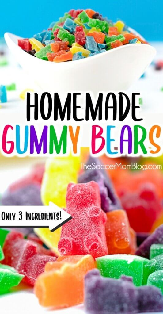 These delicious Homemade Gummy Bears are easy and fun to make with JELLO!
