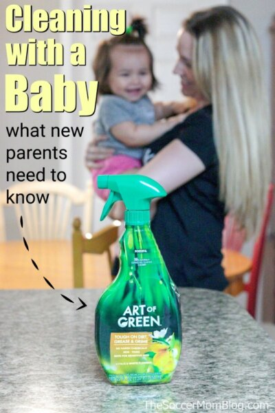 What new parents need to know about baby safe cleaning and why we made the switch to green cleaning products.