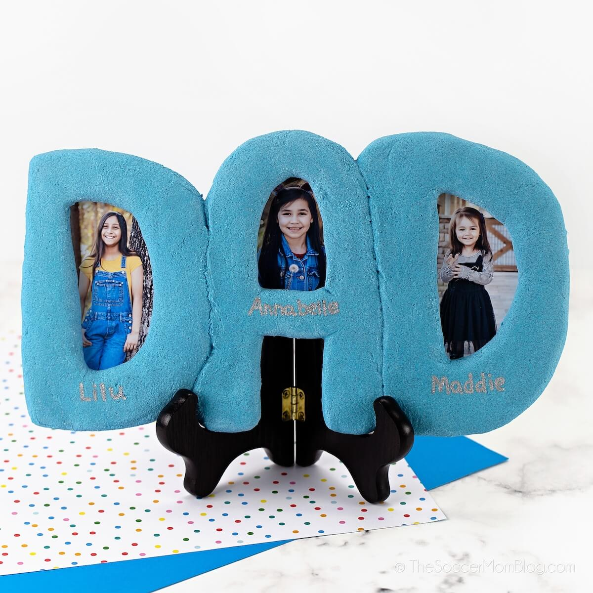kid-made Father's Day photo frame