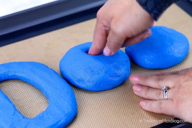 forming salt dough into letters