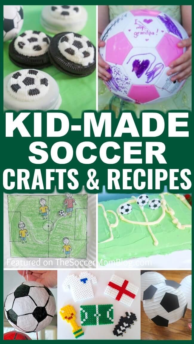 A BIG list of the best soccer gifts for kids to make or give their parents or coach - soccer craft ideas, soccer themed food, soccer party ideas, and more!