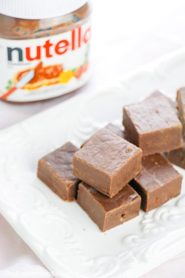 Nutella fans rejoice!! This Nutella microwave fudge is beyond easy and oh-so-delicious! Only 3 ingredients!
