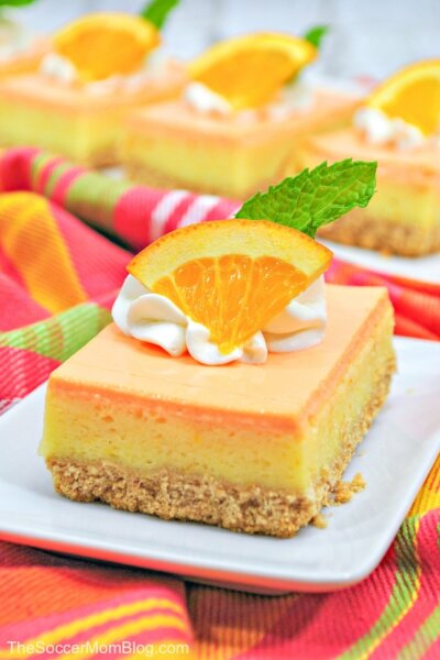 Just like the refreshing frozen treat, in cheesecake form! This delicious Orange Creamsicle Cheesecake is the perfect summer dessert!