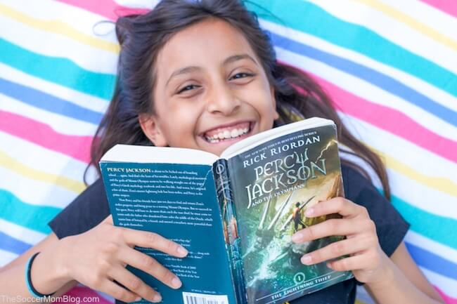 summer reading with Percy Jackson & the Olympians