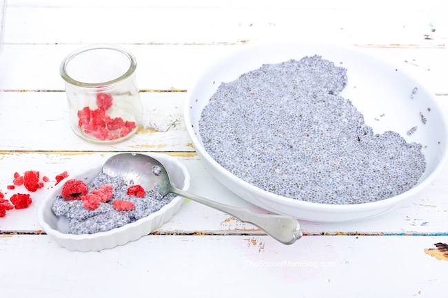 Colorful and tasty, this Red, White, and Blue Chia Seed Pudding is the perfect patriotic treat!
