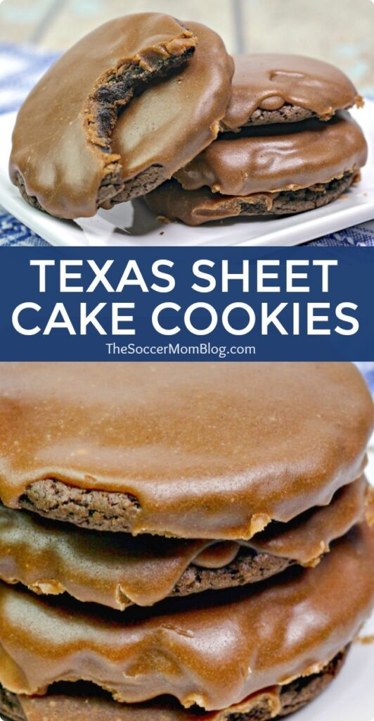 These Texas Sheet Cake Cookies are a fun twist on a classic Texas recipe - a chocolate lover's dream come true!