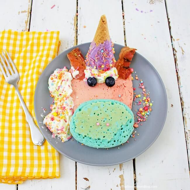 These Unicorn Pancakes are not only the most adorable breakfast you'll ever eat, but they also taste as good as they look!