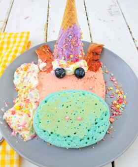 Rainbow Unicorn Pancakes