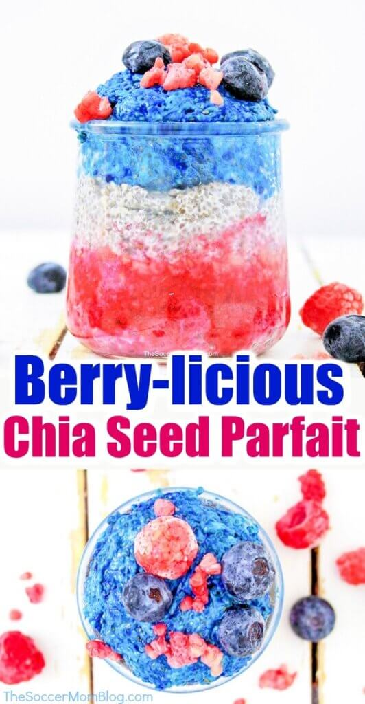 Colorful, tasty, AND healthy, this Very Berry Chia Seed Pudding is the perfect patriotic treat or nutritious breakfast!