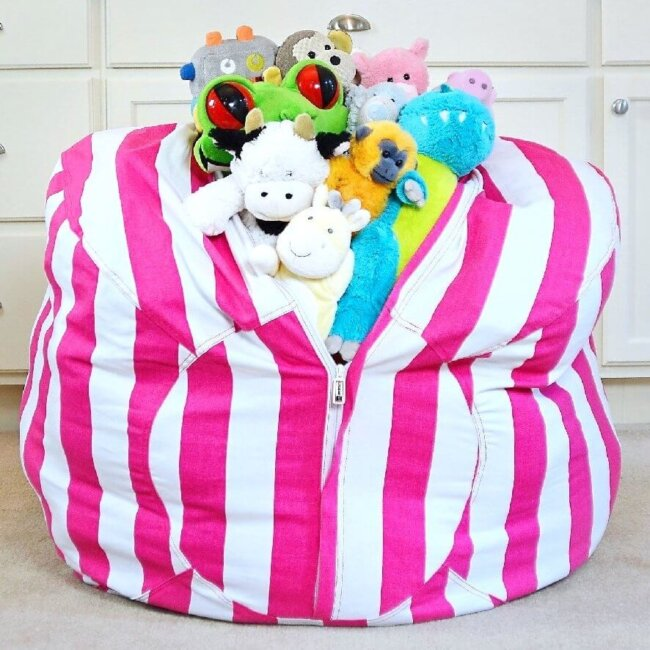 stuff 'n sit beanbag for stuffed animals