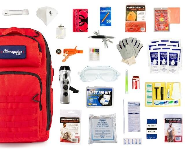 inside the Earthquake Bag from Redfora