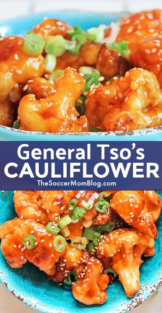 This General Tso's Cauliflower is a delicious healthy twist on a Chinese take-out favorite! Crispy, tangy, sweet, and tender! It's seriously amazing!
