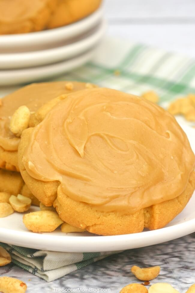 Peanut butter fans rejoice! These Peanut Butter Texas Sheet Cake cookies are the ultimate peanut butter cookie recipe!