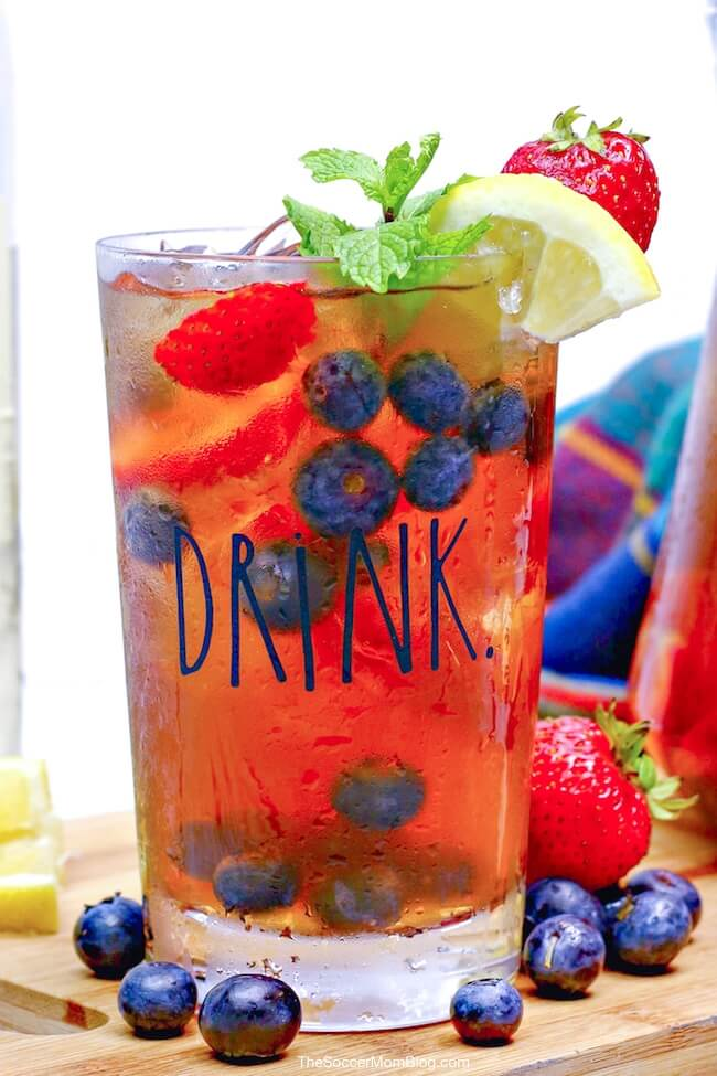 This sweet and fruity Sweet Tea Sangria puts a southern twist on a classic drink!