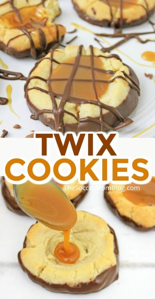 If you love the candy bar, then you've got to try this amazing recipe for Twix Cookies! Chocolate-dipped and caramel-filled and SO delicious!