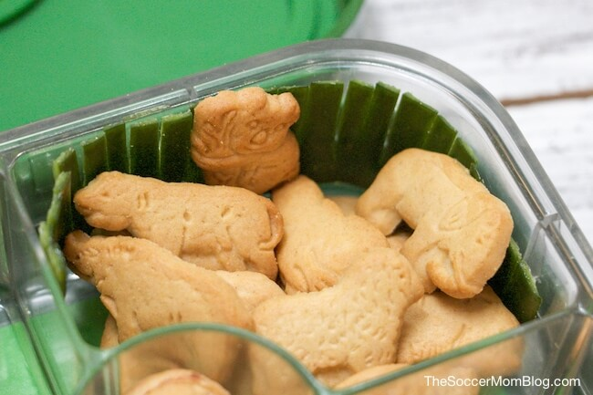 animal crackers in a zoo bento lunch