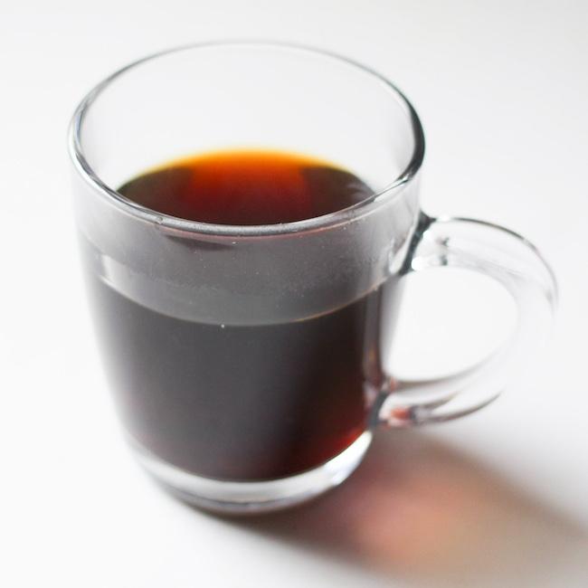 coffee in clear mug