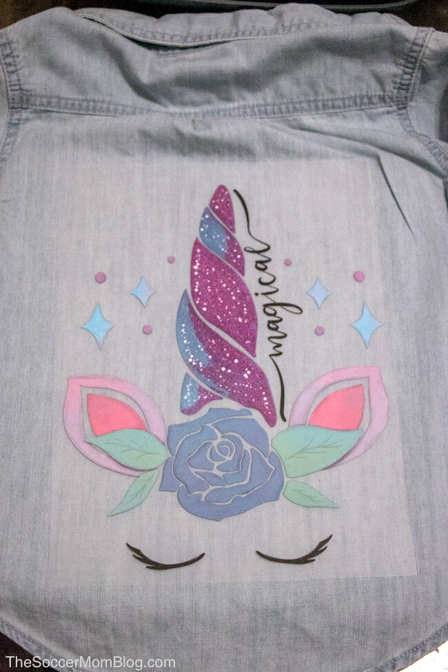 unicorn Cricut Iron-on design