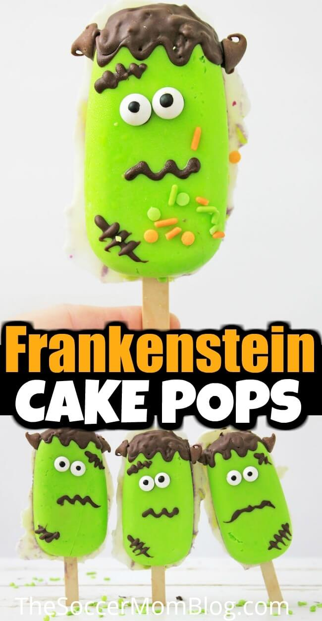 These Frankenstein Halloween Cake Pops are super cute, slightly spooky, and SO much fun! A wow-worthy Halloween party treat!