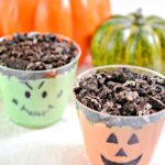These creamy and crunchy Halloween Pudding Cups will have your family screaming for more!