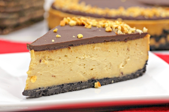 This Peanut Butter Cheesecake is perfect for the peanut butter lover in your life!
