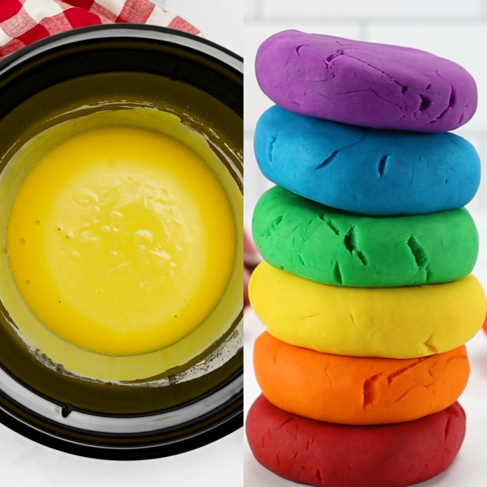 This homemade slow cooker play dough recipe is super easy and creates the most fabulously soft, smooth sensory dough ever! It will be your new go-to recipe!