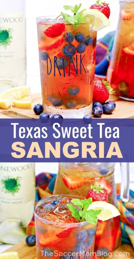 It doesn't get more refreshing than this Southern Sweat Tea Sangria - icy cold, fruity, and a touch of sweet - just perfect! Only 4 simple ingredients!