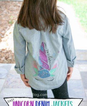 How to Use a Cricut Maker + Unicorn Jean Jackets for Back to School