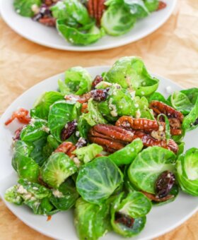 Brussel Sprout Salad with Bacon and Poppyseed Vinaigrette