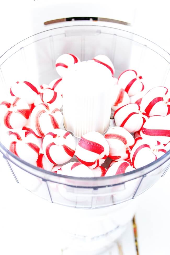 peppermints in food processor
