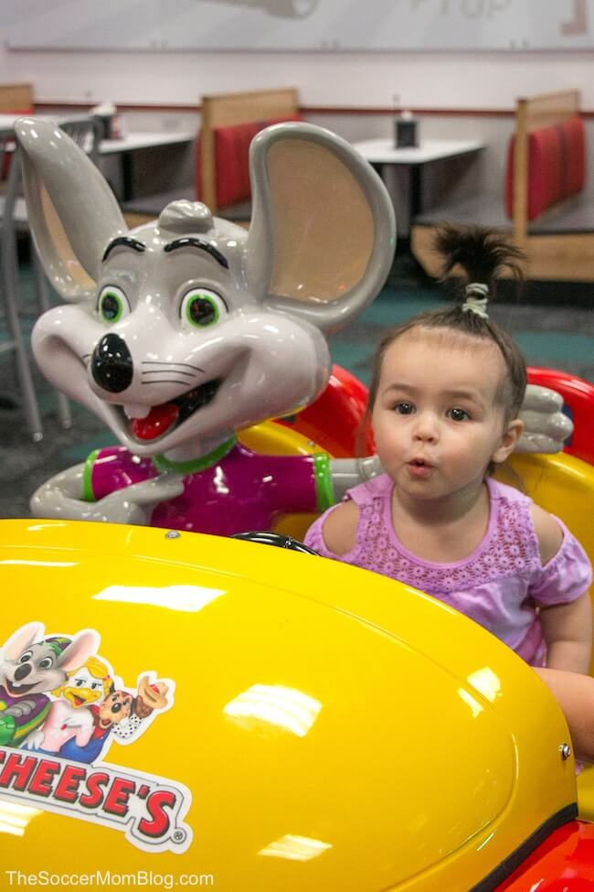 NEW Chuck E. Cheese rides
