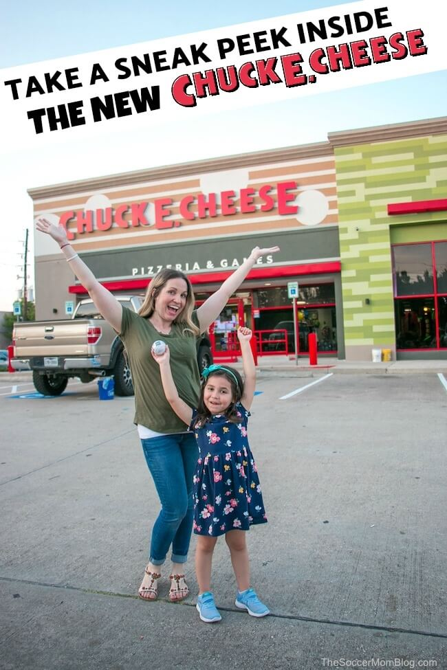 You've got to see the NEW Chuck E. Cheese! New look, new games, same Chuck E. Cheese fun! We've got the scoop from the Grand Re-Opening event at the Houston-Willowbrook flagship restaurant!