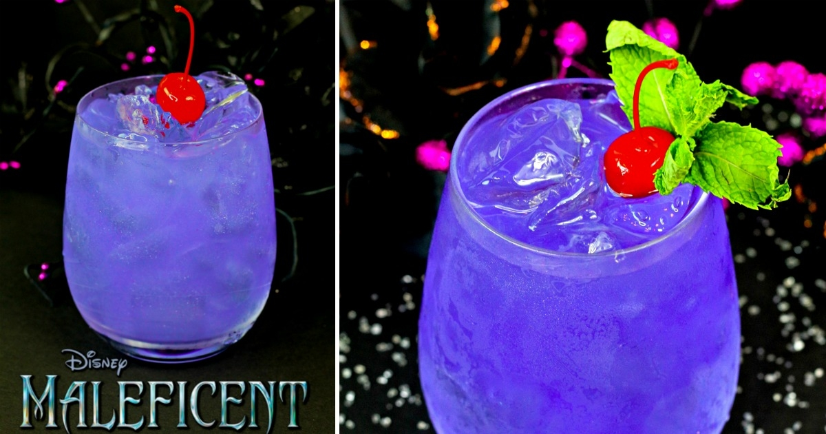 Even though it's inspired by a vengeful fairy, this beautiful shimmering Maleficent Halloween Cocktail is anything but scary! Our delicious purple Maleficent drink is a show-stopper and guaranteed to be the hit of any party!