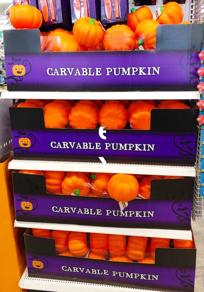 dollar store foam pumpkins