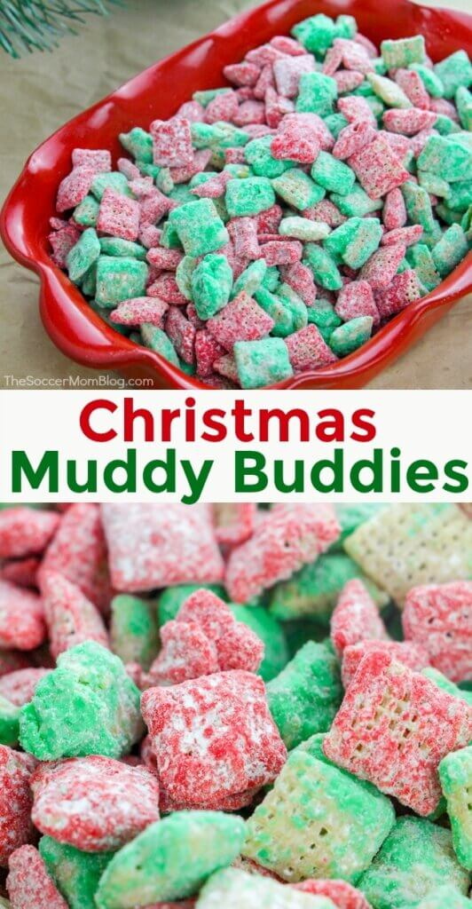 OurChristmas Puppy Chowis a fun and festive treat that everyone in your family is sure to love! This bright red and green colored holiday muddy buddy recipe iscrunchy,delicious, and the perfect easy Christmas recipe!
