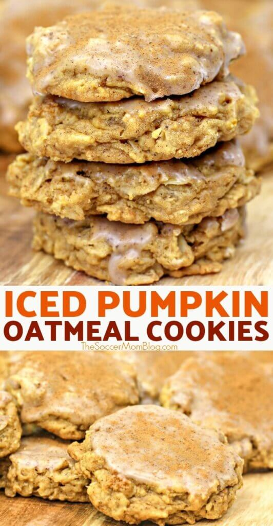If you love oatmeal cookies, then you've got to try our delicious pumpkin oatmeal cookies with cinnamon icing! They're a fabulous fall treat!