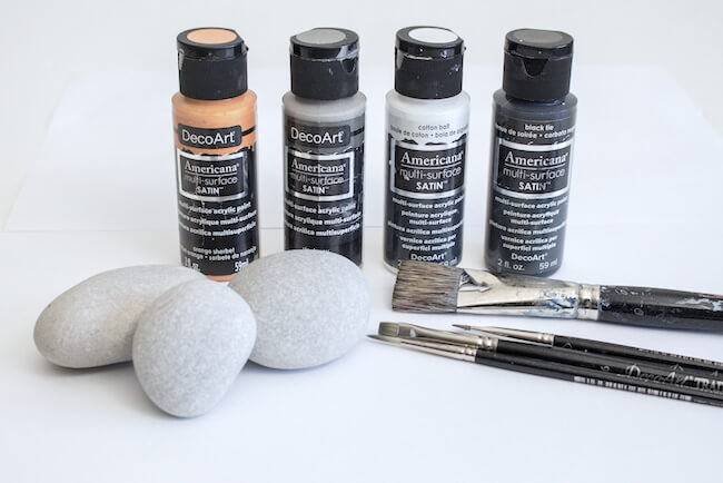 supplies needed to make painted rocks