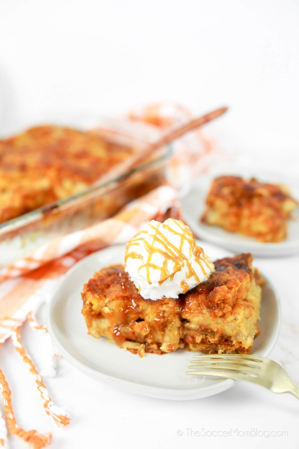 freshly baked pumpkin pie bread pudding