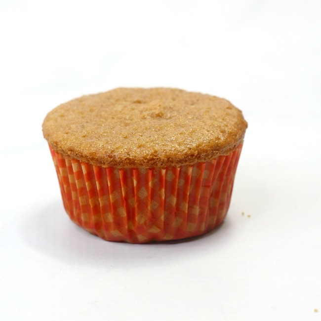 pumpkin cupcake without frosting