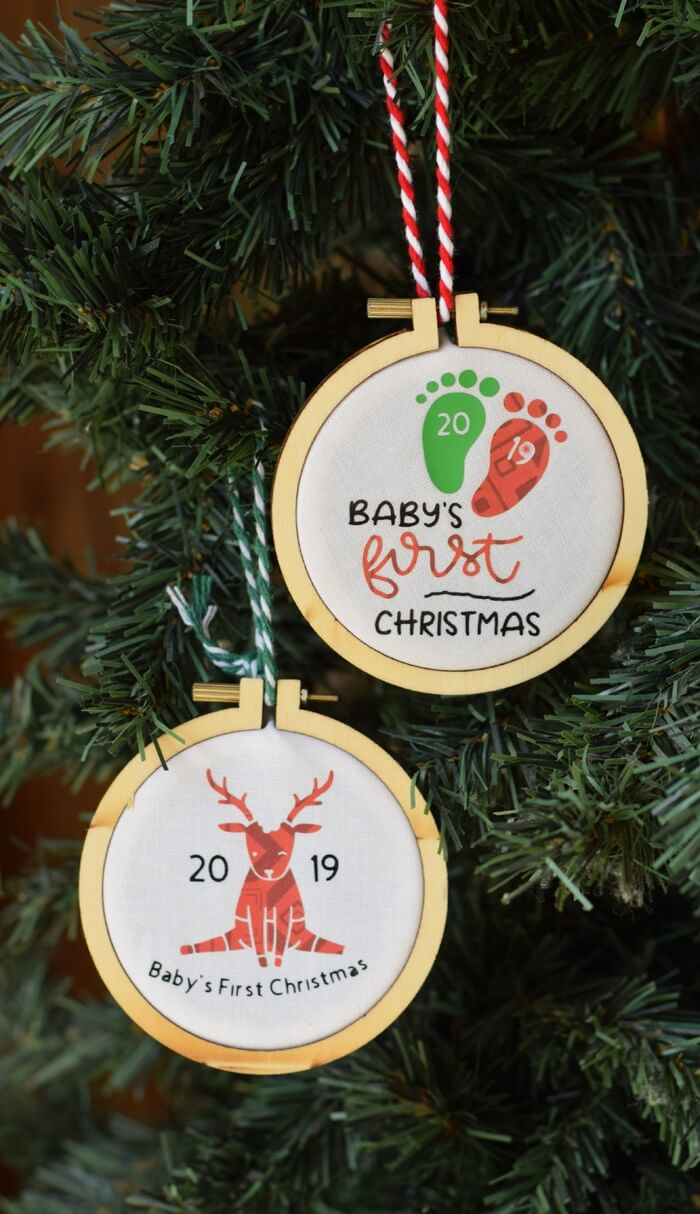 DIY Cricut Christmas ornaments