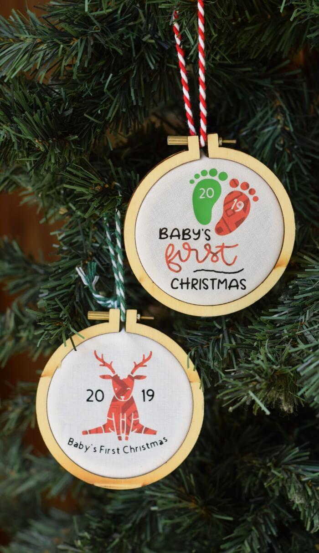 DIY Cricut Christmas ornaments